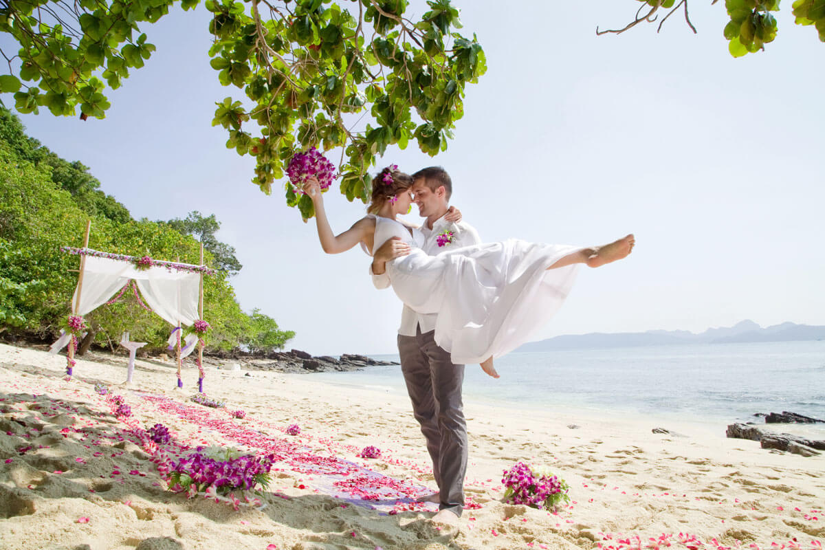 Bamboo Island Beach Wedding