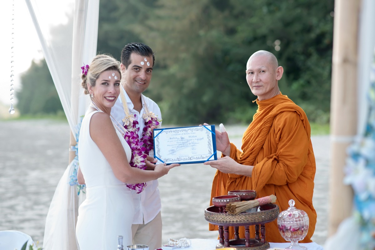 Krabi Beach Buddhist Blessing