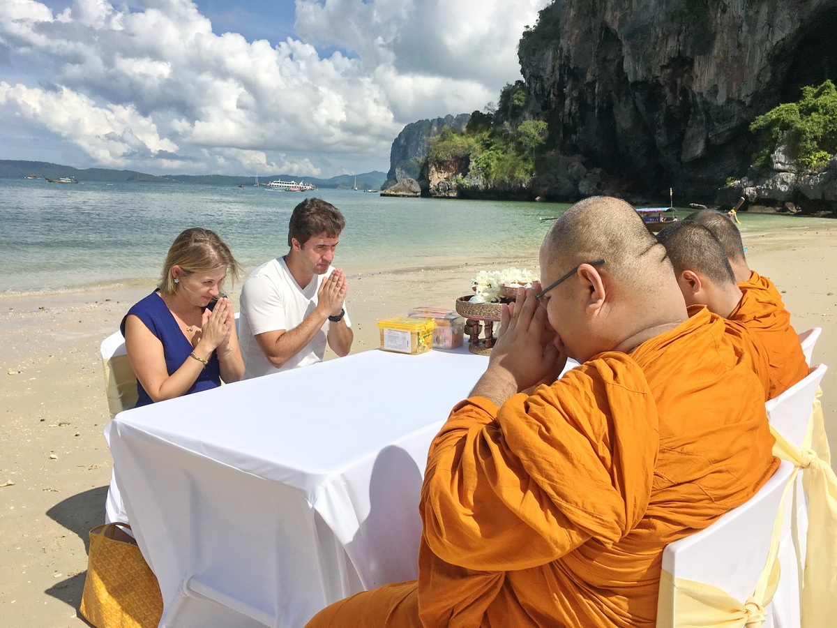 Railay Beach Buddhist Blessing