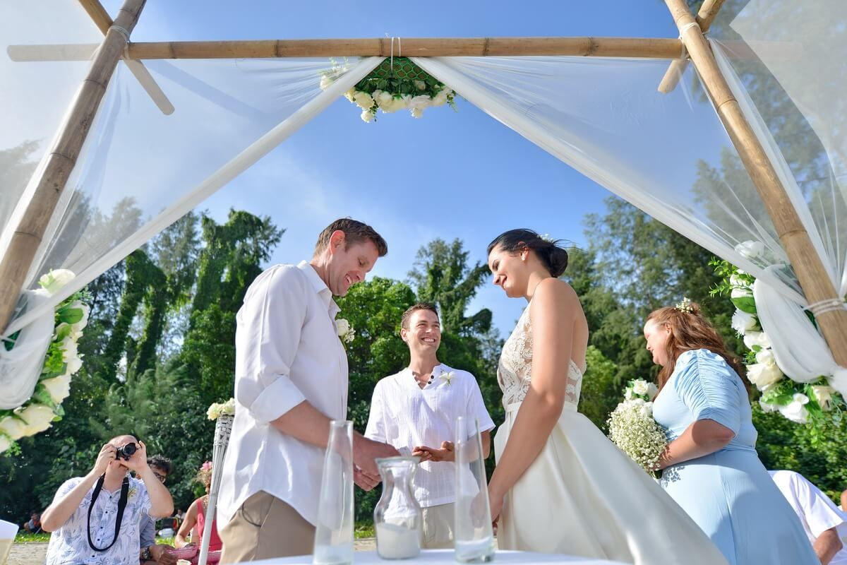 Wedding Ceremony Packages: Lanta Beach Wedding Ceremony Package : Megi + Stephen